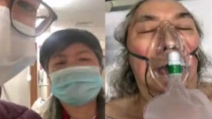 Tatínek umíral na koronavirus, rodina zveřejnila poslední fotky před smrtí (reprofoto youtube.com)