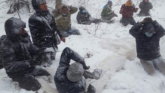 Skupina migrantů se pokoušela přejít přes Slovensko