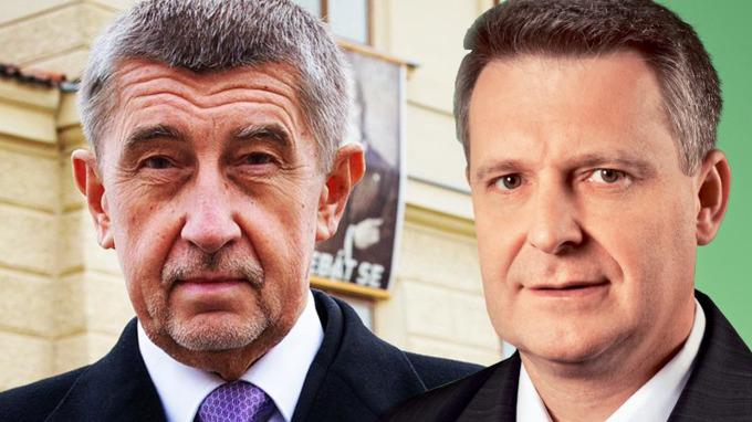 Andrej Babiš a Stanislav Grospič