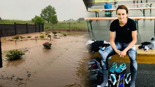 Domov Martiny Sáblíkové zasáhla voda po víkendových bouřkách.