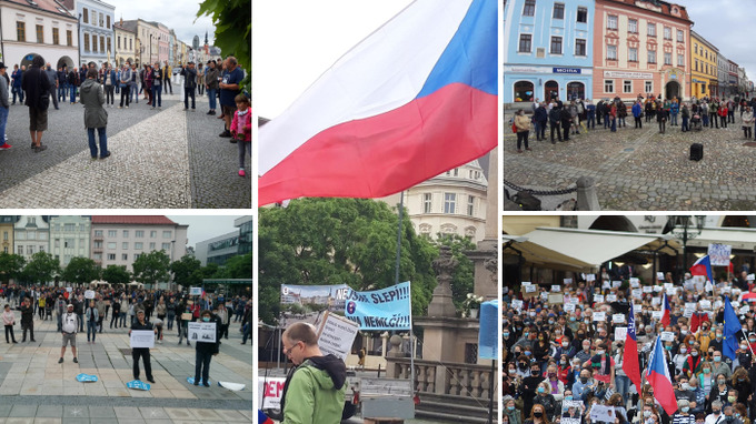 Milion chvilek uspořádal demonstraci po celém Česku.