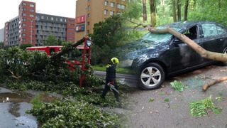 Nedělní bouřky řádily po celém Česku.
