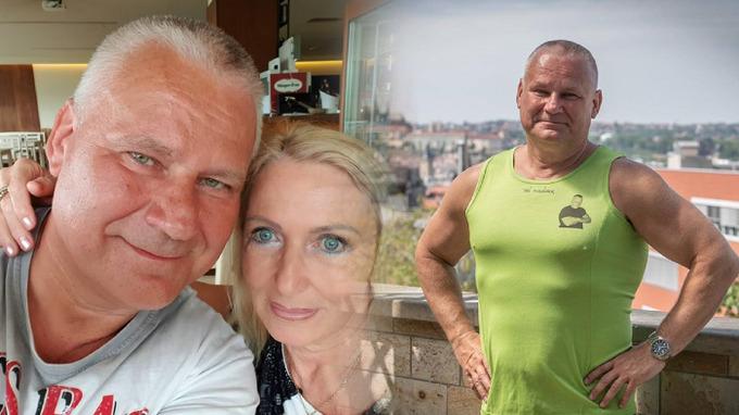 Jiří Kajínek se svou partnerkou Magdou.
