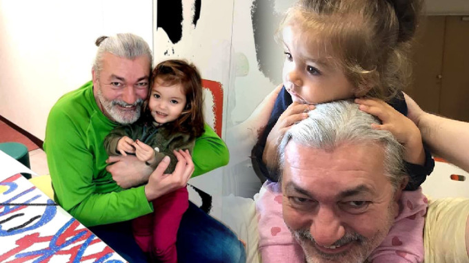 Daniel se svou vytouženou dcerou.