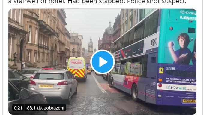 Tři lidé zemřeli po útoku v Glasgow