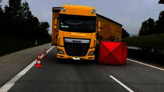 Řidič kamionu zemřel.