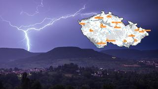 Česko zasáhnou silné bouřky.