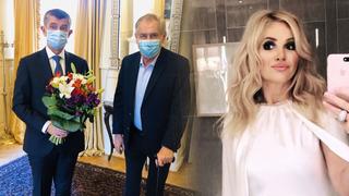 Prezident poslal Monice Babišové květinu.