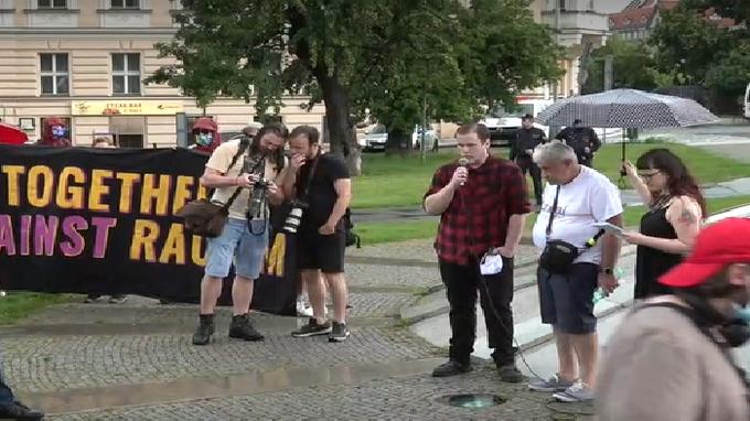 Protest na Kárově.