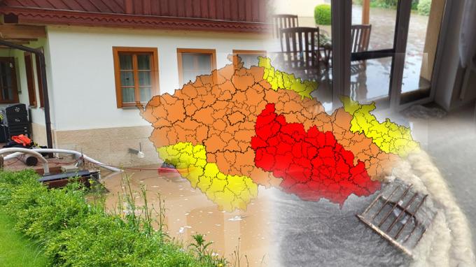 Bouřky se přehnaly přes Česko.