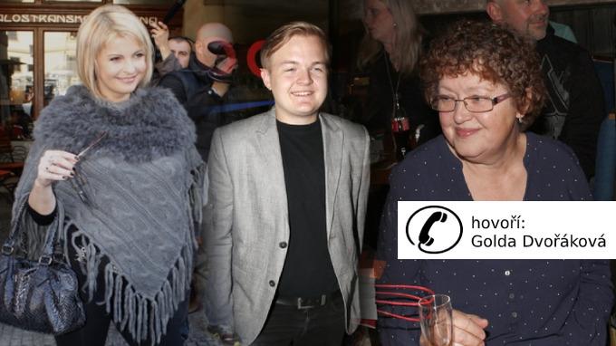 Iveta Bartošová, syn Artur a letitá kamarádka a hospodyně Golda Dvořáková..