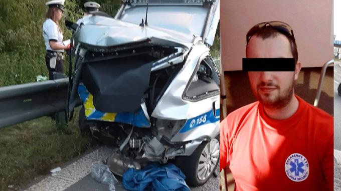 Policista přišel o život při autonehodě.