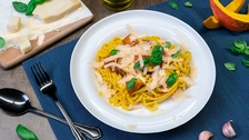 Špagety s krémovou omáčkou z pečené zeleniny