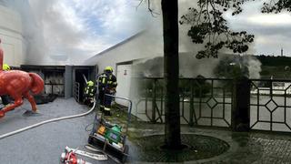 Do ul. U Sovových mlýnů vyrazily 3 jednotky hasičů k požáru budovy, ve které by se měly nacházet tlakové lahve.