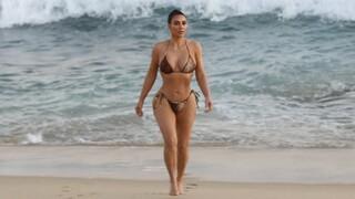 Kim ukázala velmi pohublou postavu.