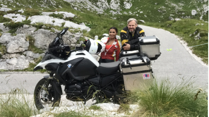 Anife si užila prázdniny na motorce