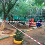 Horrific accident as boy is crushed to death in playground when giant concrete slab falls on top of him