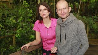 Adéla Gondíková s bratrem Daliborem.