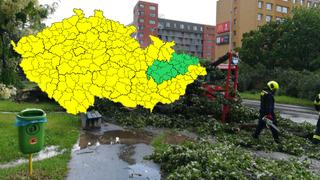 Bouřky a vysoké teploty potrápí Česko.