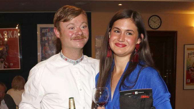 Filip Kaňkovský s přítelkyní
