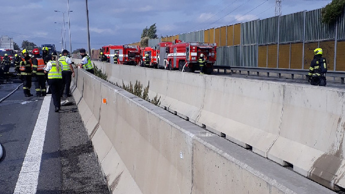 Hromadná nehoda na D1 u Brna si vyžádala 3 lidské životy