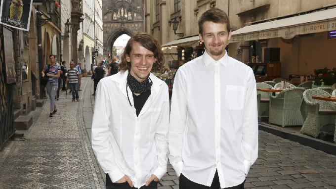 Filip Kratochvíl s bratrem.