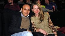 Herec se svou manželkou v roce 2017