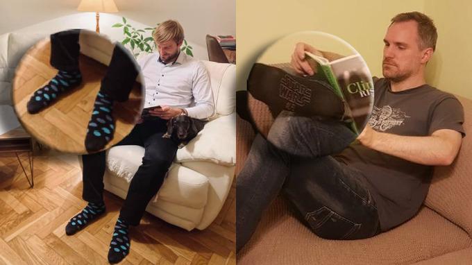 Oba politici ukázali trendy ponožky