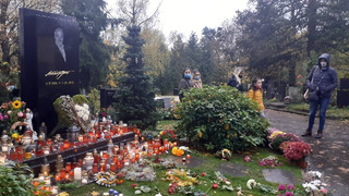 Aktuální pohled na hrob Karla Gotta