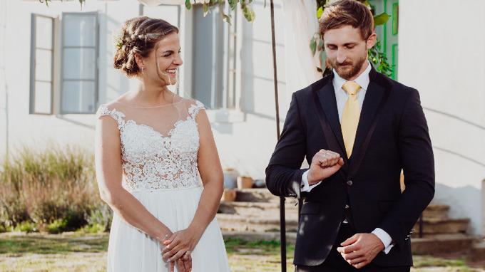 Novomanželé Petra a René