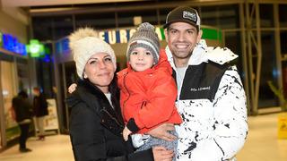 Petr Vojnar s partnerkou a synem Sebastianem