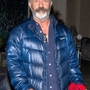 *EXCLUSIVE* A tired Mel Gibson heads home from Mastro's with a bouquet of roses