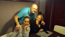 Michal Štika a jeho dcery Ornella a Charlotte