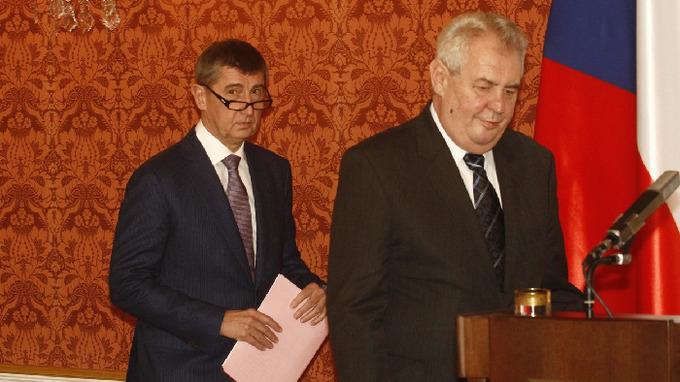 Andrej Babiš a prezident Miloš Zeman