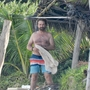*PREMIUM EXCLUSIVE* Gerard Butler looked in great shape as he hit the beach in Mexico with a mystery woman