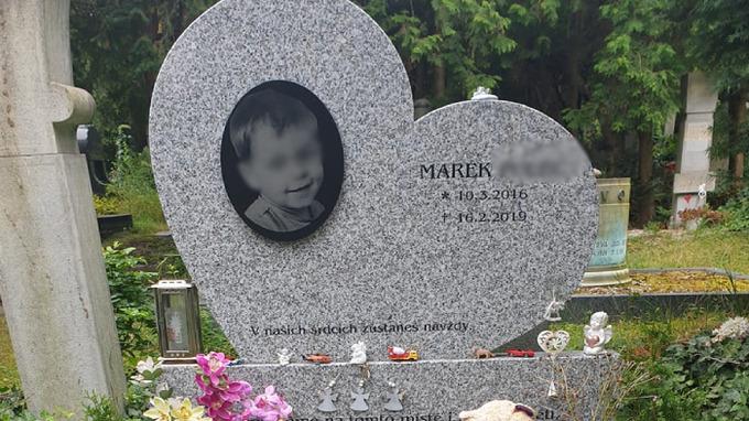 Místo, kde byl Mareček pohřben
