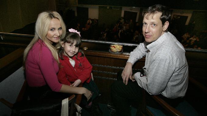 Šárka Grossová s Natálkou a manželem Stanislavem