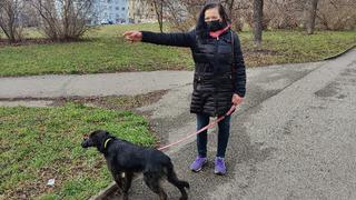 Katka Bradáčová se svým novým čtyřnohým kamarádem