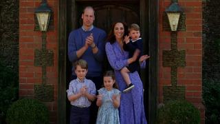 Princ William a Kate Middletonová s dětmi