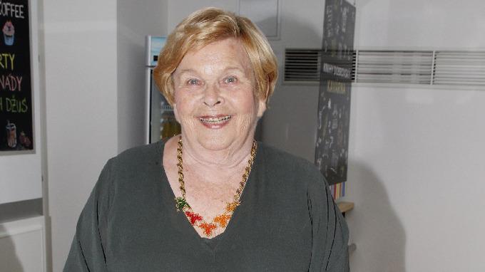 Herečka a spisovatelka Ivanka Devátá