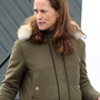 EXCLUSIVE: Pippa Middleton heads out wearing a military green coat as she goes for a stroll in Chelsea following her mother's confirmation that she's pregnant with her second child.