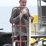 *EXCLUSIVE* Macaulay Culkin gets soaked filming 'American Horror Story' fight scene **WEB MUST CALL FOR PRICING**