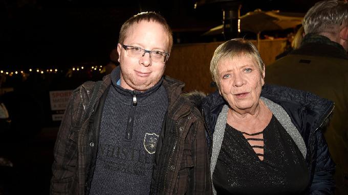 Herečka Jaroslava Obermaierová se synem