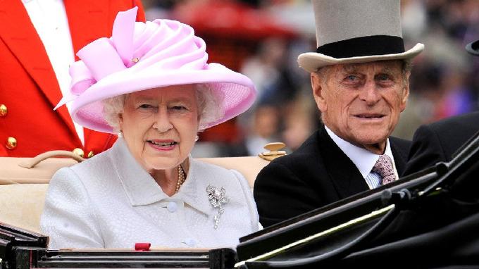 Královna Alžběta II. a její manžel princ Philip