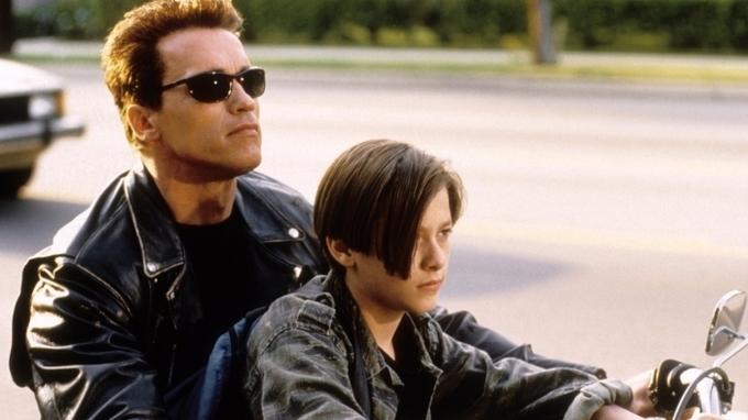 Herec Edward Furlong s Arnoldem Schwarzeneggerem