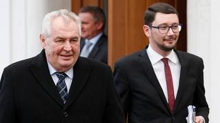 Miloš Zeman a hradní mluvčí Jiří Ovčáček