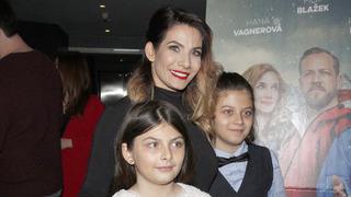 Herečka Eva Decastelo s dcerou Zuzanou a synem Michaelem