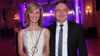 Ministr zdravotnictví Petr Arenberger se svou manželkou Monikou Arenbergerovou