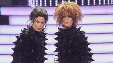 Hana Holišová a Erika Stárková jako Michael Jackson a Janet Jackson