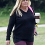 *EXCLUSIVE* Former Baywatch Star Nicole Eggert goes makeup free while enjoying a morning walk